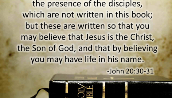 Jesus did Many Miracles, but these were written down that you may believe that Jesus IS the Christ
